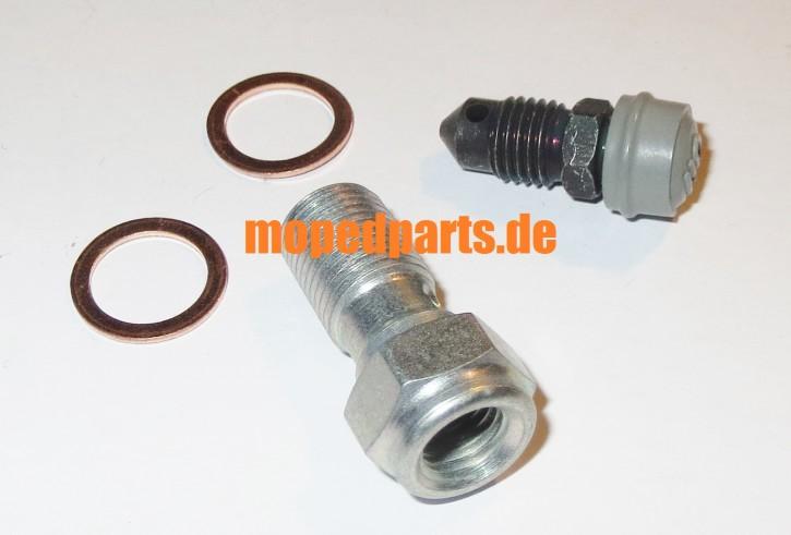 Hohlschraube Magura M10x1 mit Entlüftungsschraube für Bremsleitungen