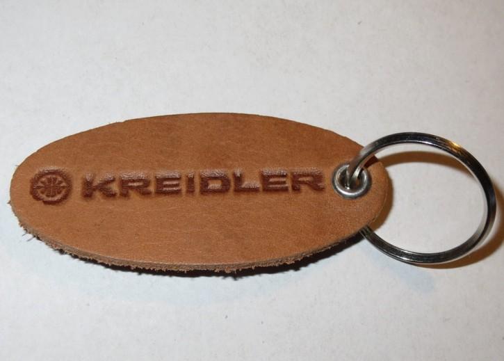 Schlüsselanhänger Kreidler, Schriftzug Kreidler, Leder