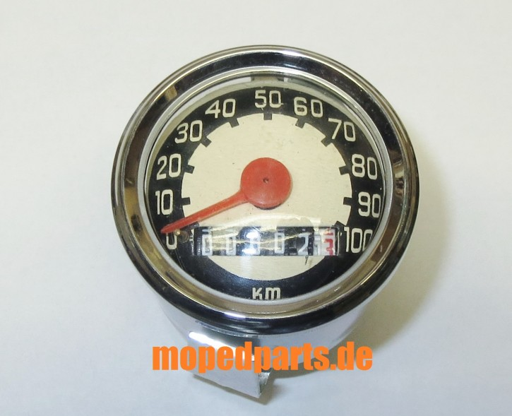 Tacho 48 mm, 100 km/h, altes Design, Mofa, Moped, Hercules Prima Mofa, Zündapp, Puch, Kreidler