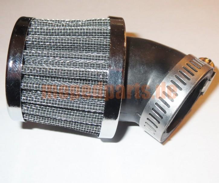 Luftfilter 32 mm, 45 Grad abgewinkelt