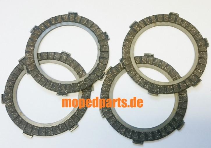 Kupplungslamellen Zündapp KS 50, C50, GTS50, R50, CS 25,  4 Stück