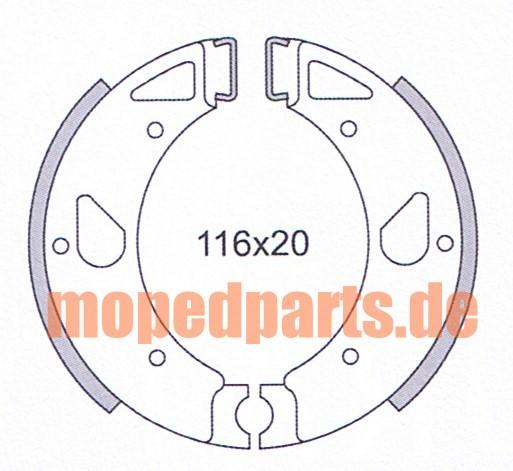Bremsbacken Kreidler 116x20 mm