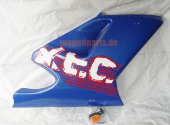 Seitenverkleidung Sachs XTC, rechts unten, blau, mit Blinker ***