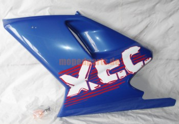 Seitenverkleidung Sachs XTC, links unten, blau, mit Blinker ****
