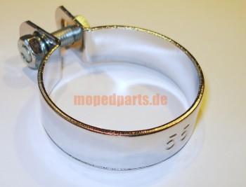 Auspuffschelle exhaust clip 55 mm chrom
