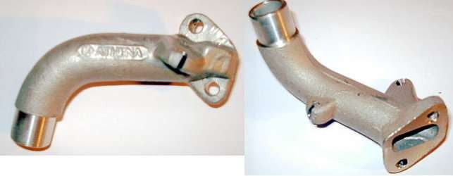 Tuning - Ansaugstutzen Hercules Prima, 15 mm, schräger Flansch