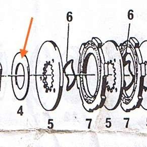 Ausgleichsscheibe 1,7 mm Kupplung Hercules Prima, Sachs 504, 505 *******
