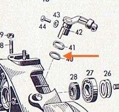 Dichtring für Schalt- / Kupplungshebel Sachs , Kupfer, 1,5 mm st