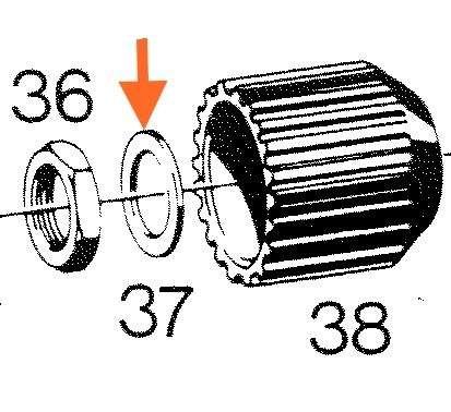 Scheibe Kupplungsnabe 50S, 50SW, 80