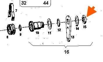 Sechskantmutter M20,8x1 mm, Kupplung Sachs 50, Bremshebel Prima