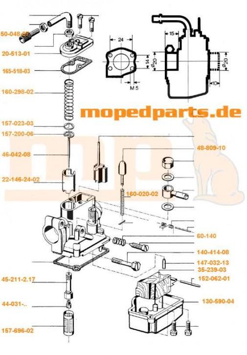 Dichtung Deckelplatte Vergaser 85/10/...