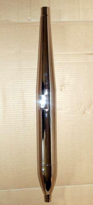 Auspuff 28 mm Zigarrenform für Kreidler