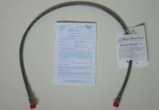 Bremsleitung / brake hose 675 mm Stahlflex