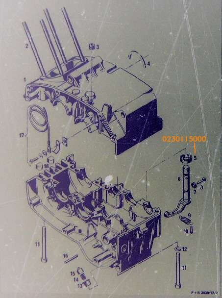 Wellendichtring Kupplungshebel Sachs 506, Hercules Prima GT, Supra 4 GP