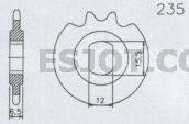 Ritzel 14 Z. Hercules Prima, KTM Mofa, Sachs 50, Langloch 15,5x12 mm