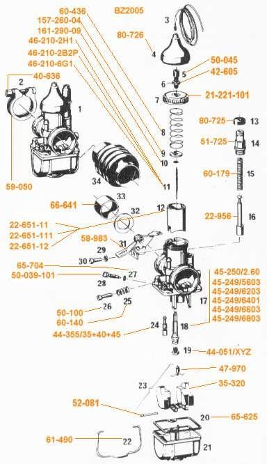 Nadeldüse / Mischrohr für Vergaser Bing Typ 21 V6