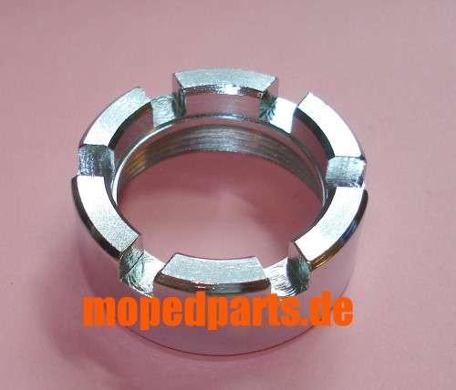 Kronenmutter für Sachs, M40x1,5, 32 mm Krümmerdurchmesser