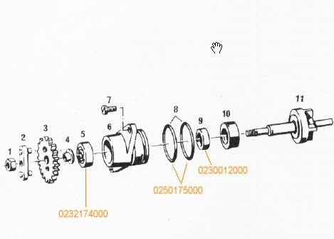Kugellager Wasserpumpe Sachs 50SW 80SW