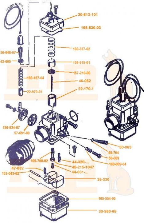 Filterdeckel Bing Vergaser Typ 18, Typ 17