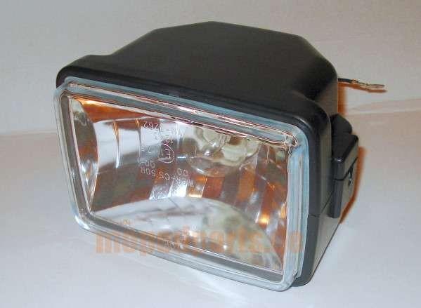 Scheinwerfer eckig, 140 x 100 mm, Klarglas, E-Nummer