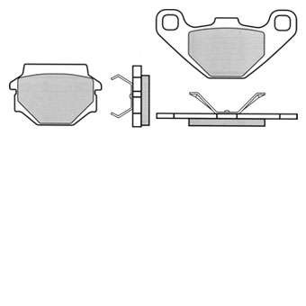 Bremsbeläge Hercules Supra 4GP vorne, TRW Lucas