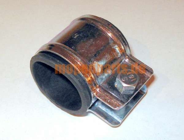 Auspuffklemme mit Gummi, 28 mm, Mofa Hercules