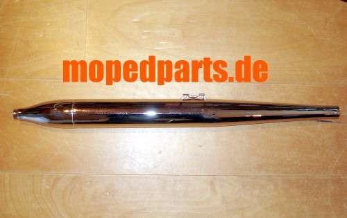 Auspuff Zigarrenform 60 mm, Krümmer 26 mm, Zündapp M50 Bergsteiger