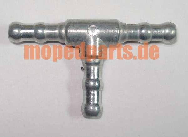 T-Stück 6mm für Benzinschlauch aus Metall