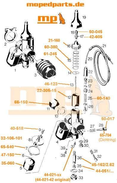 Feder Gasschieber Bing Typ 1/19/31