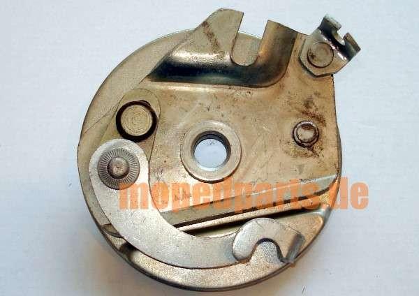 Bremsankerplatte Mobylette, 92 mm, mit Haken *****