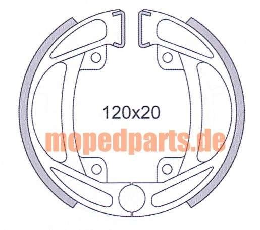 Bremsbacken KTM, Puch, Kreidler 120x20 mm