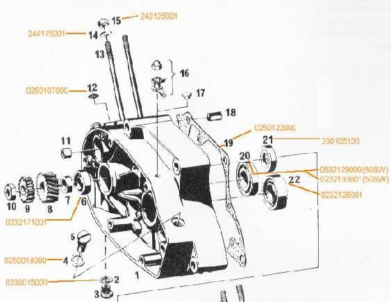 Dichtring zw. Zylinder und Gehäuse f. Wasserkreis