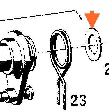 Ausgleichsscheibe Washer Schaltwelle 14,5x24x0,3