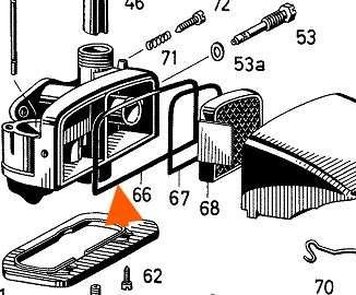 Dichtring Vergaser Filterkappe Sachs 50