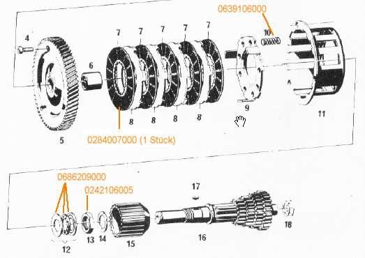Sechskantmutter M18x1 Kupplung Sachs, 50S, 125, 80