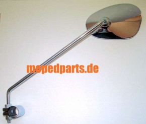 Spiegel Bumm oval chrom, links, mit Gewinde
